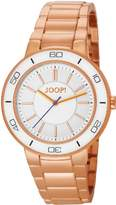JOOP! Joop Insight Women's Quartz Watch with White Dial Analogue Display and Rose Gold Stainless Steel Bracelet JP101032F03