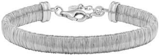 Italian Silver Wire-Wrapped Bracelet, 16.2g