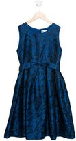 Rachel Riley Girls' Floral Bow-Adorned Dress