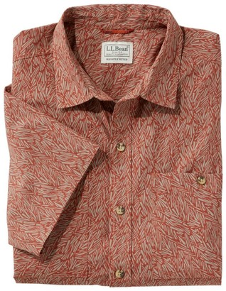 L.L. Bean Men's Otter Cliff Shirt, Short-Sleeve Plaid