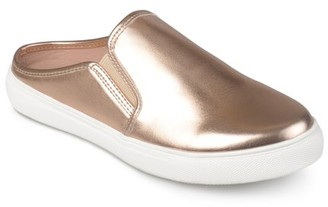 Brinley Co. Women's Faux Leather Round Toe Casual Sneaker Mules