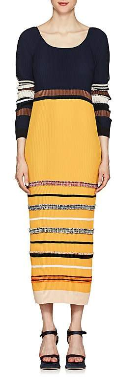 Derek Lam Women's Pleated Chiffon Dress