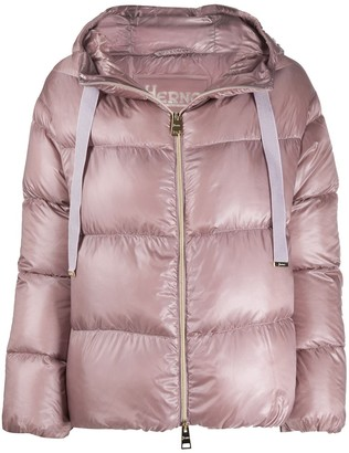 Herno Cropped Drawstring Down Jacket