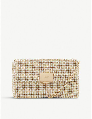 Dune Evanderr metallic clutch bag