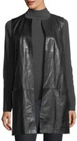 Lafayette 148 New York Laritza Paneled Lambskin Leather Vest