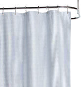 Rejuvenation Blue Ticking Cotton Duck Cloth Shower Curtain