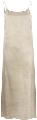 UMA WANG Sleeveless Marbled-Print Dress