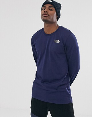 The North Face Simple Dome long sleeve t-shirt in navy-Blue