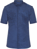 Bottega Veneta Short-sleeved faded cotton shirt