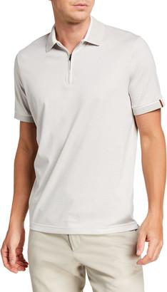Loro Piana Men's Golf-Knit Quarter-Zip Polo Shirt