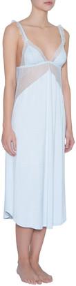 Eberjey Phoebe Luxe Mesh-Inset Nightgown