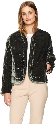 Rebecca Taylor Women's Quilted Velvet Coat