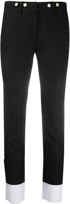 Ann Demeulemeester Skinny Fit Contrast Hem Trousers