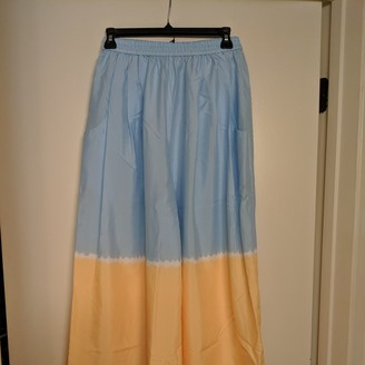 Tome Blue Cotton Trousers