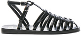 Acne Studios Shiny Leather Omane Sandals in Black.