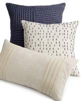 "Hotel Collection Linen Stripe 18"" Square Decorative Pillow, Created for Macy's"
