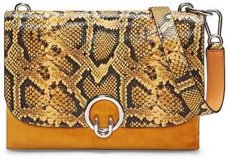 Rebecca Minkoff Isabel Large Snakeskin Embossed Shoulder Bag