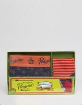 Original Penguin Trunk and Sock Gift Set