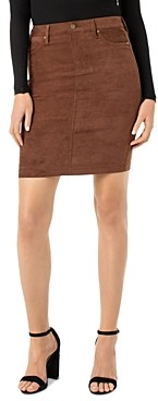 Liverpool Los Angeles Faux-Suede Pencil Skirt