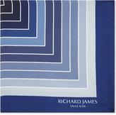Richard James Wave Pattern Silk Pocket Square