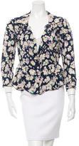 Nina Ricci Silk Floral Print Jacket