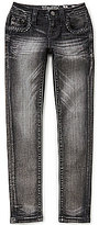 Miss Me Girls Big Girls 7-16 Braided-Back Skinny Jeans