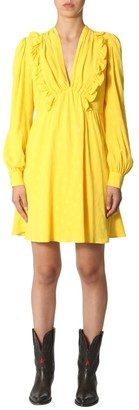 MSGM Ruffled Long Sleeve Dress