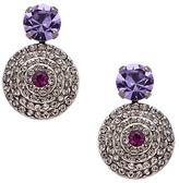 Sorrelli Lilac Crystal Disc Drop Earrings