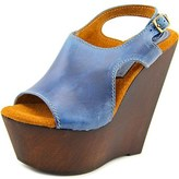 Sbicca Mercer Women Open Toe Leather Wedge Sandal.