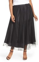 Alex Evenings Plus Size Women's Tulle Tea Length Skirt