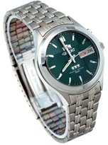 Orient #BEM5V002F Men's Facet Glass Stainless Steel Automatic Watch