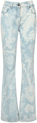Etro Stretch Cotton Denim Flared Jeans