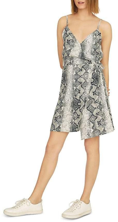 Sanctuary Wrap It Up Snake-Print Dress