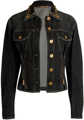 Versace Stud-Embellished Denim Jacket