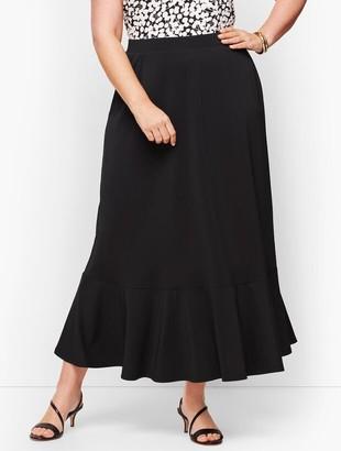 Talbots Knit Jersey Flounce Hem Maxi Skirt