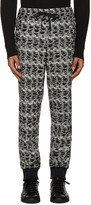 Versace Black & White Textured Lounge Pants