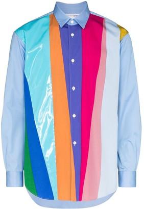 Comme des Garçons Shirt Striped Colour-Block Shirt