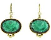 Yasuko Azuma Oval Rose Cut Emerald Earrings