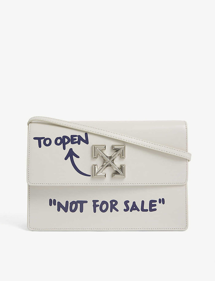 Off-White Jitney 1.0 leather top handle bag