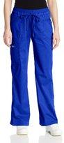 Cherokee Women's Ww Core Stretch Jr. Fit Jr. Fit Low-Rise Drawstring Cargo Pant, Black, X-Large Arge/Tall