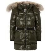 Moncler MonclerGirls Khaki Down Padded Fragont Coat