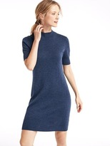 Gap Merino wool mockneck sheath dress