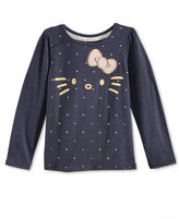 Hello Kitty Long-Sleeve Metallic-Print T-Shirt, Toddler Girls (2T-5T) & Little Girls (2-6X)