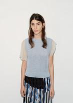 Kolor Chiffon Sleeve Sweater