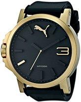 Puma Men's PU102941004 Ultrasize 50 Gold Analog Display Japanese Quartz Black Watch