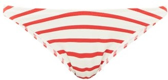 Solid & Striped The Vanessa Striped Bikini Briefs - Red Stripe