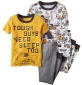 Carter's Baby Clothing Outfit Boys 4-Piece Snug Fit Cotton PJs Tough Guys 6M