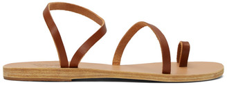 Ancient Greek Sandals Brown Apli Eleftheria Sandals