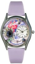Whimsical Watches Women's S0910004 Imitation Birthstone: April Lavender Leather Watch