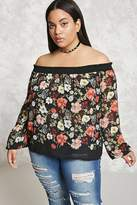 Forever 21 FOREVER 21+ Plus Size Off-the-Shoulder Top